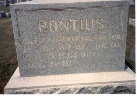 RAINIER PONTIUS, MARY - Franklin County, Ohio | MARY RAINIER PONTIUS - Ohio Gravestone Photos