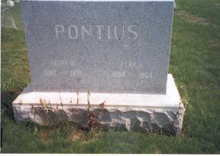 PETERS PONTIUS, LENA M. - Franklin County, Ohio | LENA M. PETERS PONTIUS - Ohio Gravestone Photos