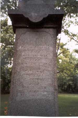 PONTIUS, CATHARINE - Franklin County, Ohio | CATHARINE PONTIUS - Ohio Gravestone Photos