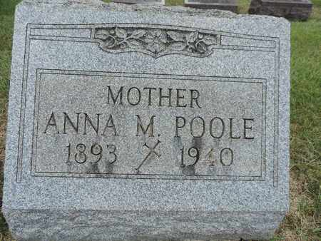 POOLE, ANNA M. - Franklin County, Ohio | ANNA M. POOLE - Ohio Gravestone Photos
