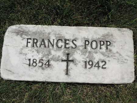 POPP, FRANCES - Franklin County, Ohio | FRANCES POPP - Ohio Gravestone Photos