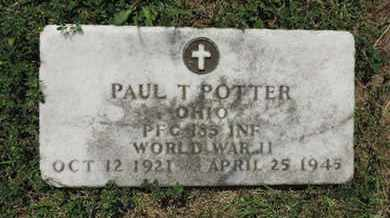 POTTER, PAUL T. - Franklin County, Ohio   PAUL T. POTTER - Ohio Gravestone Photos