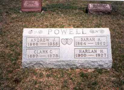POWELL, HARLAN H,. - Franklin County, Ohio | HARLAN H,. POWELL - Ohio Gravestone Photos