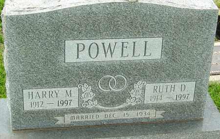 POWELL, HARRY M - Franklin County, Ohio | HARRY M POWELL - Ohio Gravestone Photos