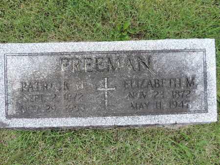 FREEMAN, PATRICK H. - Franklin County, Ohio | PATRICK H. FREEMAN - Ohio Gravestone Photos