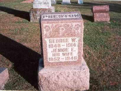 SWISHER PRESTON, JENNIE E. - Franklin County, Ohio | JENNIE E. SWISHER PRESTON - Ohio Gravestone Photos