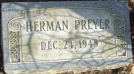 PREYER, HERMAN - Franklin County, Ohio | HERMAN PREYER - Ohio Gravestone Photos