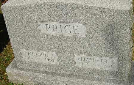 PRICE, RAYMOND J - Franklin County, Ohio | RAYMOND J PRICE - Ohio Gravestone Photos