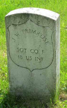 PRIMROSE, J. W. - Franklin County, Ohio | J. W. PRIMROSE - Ohio Gravestone Photos
