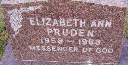 PRUDEN, ELIZABETH ANN - Franklin County, Ohio | ELIZABETH ANN PRUDEN - Ohio Gravestone Photos
