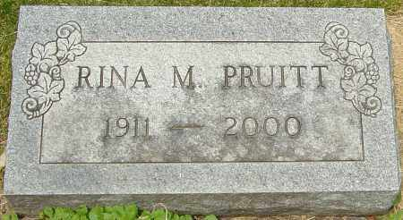 PRUITT, RINA M - Franklin County, Ohio | RINA M PRUITT - Ohio Gravestone Photos
