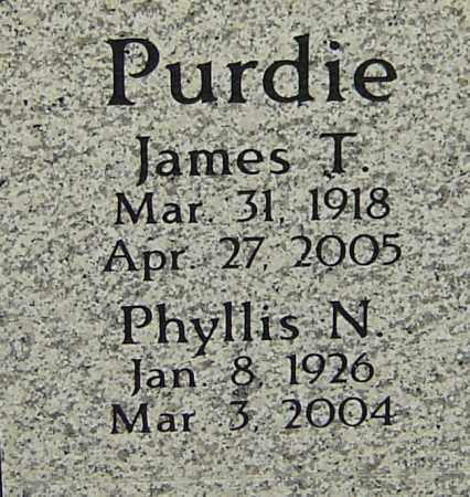 PURDIE, JAMES T - Franklin County, Ohio | JAMES T PURDIE - Ohio Gravestone Photos