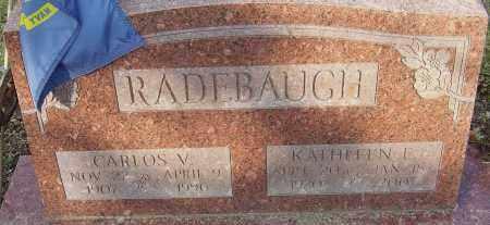 RADEBAUGH, CARLOS V - Franklin County, Ohio | CARLOS V RADEBAUGH - Ohio Gravestone Photos