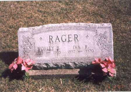 RAGER, WORLEY B. - Franklin County, Ohio | WORLEY B. RAGER - Ohio Gravestone Photos