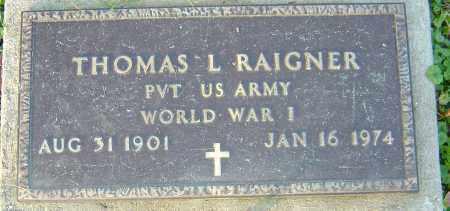 RAIGNER, THOMAS - Franklin County, Ohio | THOMAS RAIGNER - Ohio Gravestone Photos