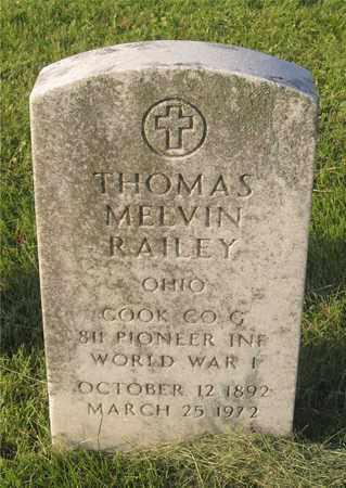 RAILEY, THOMAS MELVIN - Franklin County, Ohio   THOMAS MELVIN RAILEY - Ohio Gravestone Photos