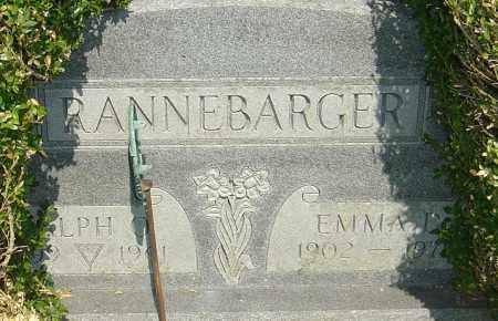 RANNEBARGER, EMMA D - Franklin County, Ohio | EMMA D RANNEBARGER - Ohio Gravestone Photos