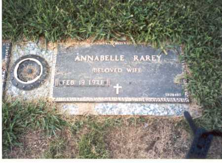 FEBUS RAREY, ANNABELLE - Franklin County, Ohio | ANNABELLE FEBUS RAREY - Ohio Gravestone Photos