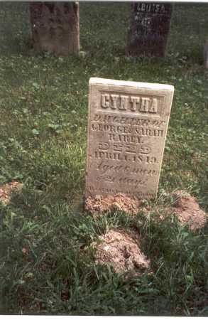RAREY, CYNTHA - Franklin County, Ohio | CYNTHA RAREY - Ohio Gravestone Photos