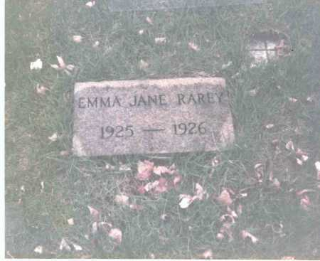 RAREY, EMMA JANE - Franklin County, Ohio | EMMA JANE RAREY - Ohio Gravestone Photos