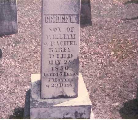 RAREY, GEORGE W. - Franklin County, Ohio | GEORGE W. RAREY - Ohio Gravestone Photos