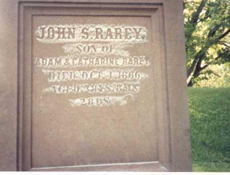 RAREY, JOHN S. - Franklin County, Ohio | JOHN S. RAREY - Ohio Gravestone Photos