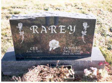 RAREY, JANNET - Franklin County, Ohio | JANNET RAREY - Ohio Gravestone Photos