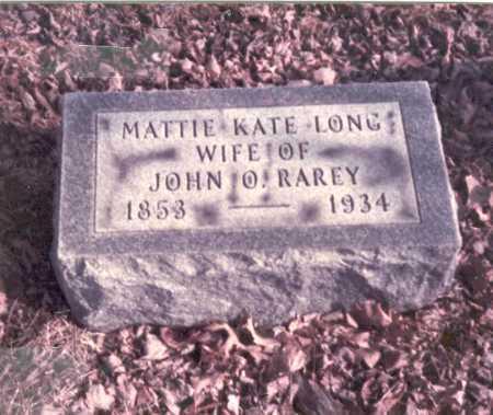 LONG RAREY, MATTIE KATE - Franklin County, Ohio | MATTIE KATE LONG RAREY - Ohio Gravestone Photos