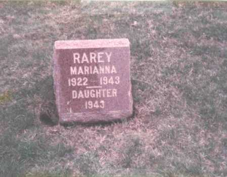 RAREY, INFANT DAUGHTER - Franklin County, Ohio | INFANT DAUGHTER RAREY - Ohio Gravestone Photos