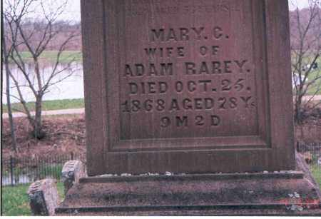 PONTIUS RAREY, MARY CATHARINE - Franklin County, Ohio   MARY CATHARINE PONTIUS RAREY - Ohio Gravestone Photos