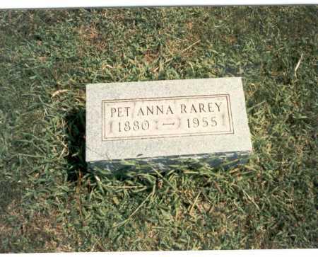 RAREY, PET ANNA - Franklin County, Ohio | PET ANNA RAREY - Ohio Gravestone Photos