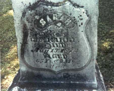 WHETSEL RAREY, SARAH - Franklin County, Ohio | SARAH WHETSEL RAREY - Ohio Gravestone Photos