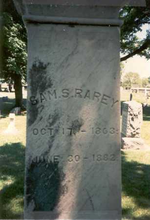 RAREY, SAM. S. - Franklin County, Ohio | SAM. S. RAREY - Ohio Gravestone Photos