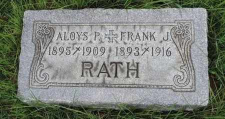 RATH, FRANK J - Franklin County, Ohio | FRANK J RATH - Ohio Gravestone Photos