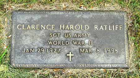 RATLIFF, CLARENCE HAROLD - Franklin County, Ohio | CLARENCE HAROLD RATLIFF - Ohio Gravestone Photos