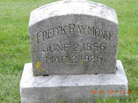 RAYMOND, FREDERICK - Franklin County, Ohio | FREDERICK RAYMOND - Ohio Gravestone Photos