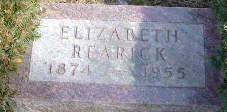 REARICK, ELIZABETH - Franklin County, Ohio | ELIZABETH REARICK - Ohio Gravestone Photos