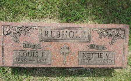 REBHOLZ, LOUIS F. - Franklin County, Ohio | LOUIS F. REBHOLZ - Ohio Gravestone Photos