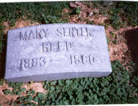 SENTER REED, MARY - Franklin County, Ohio | MARY SENTER REED - Ohio Gravestone Photos