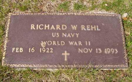 REHL, RICHARD W. - Franklin County, Ohio | RICHARD W. REHL - Ohio Gravestone Photos