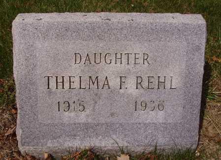 REHL, THELMA - Franklin County, Ohio   THELMA REHL - Ohio Gravestone Photos