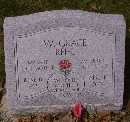 REHL, W. GRACE - Franklin County, Ohio | W. GRACE REHL - Ohio Gravestone Photos