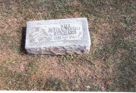 REICHARD, BERTHA BERNICE - Franklin County, Ohio | BERTHA BERNICE REICHARD - Ohio Gravestone Photos