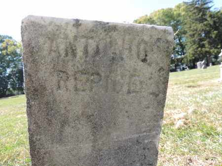 REPIUE, ANTONIO - Franklin County, Ohio | ANTONIO REPIUE - Ohio Gravestone Photos
