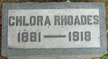 RHOADES, CHLORA - Franklin County, Ohio | CHLORA RHOADES - Ohio Gravestone Photos