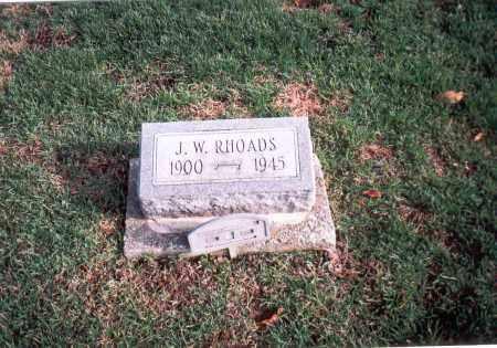 RHOADS, J.W. - Franklin County, Ohio | J.W. RHOADS - Ohio Gravestone Photos