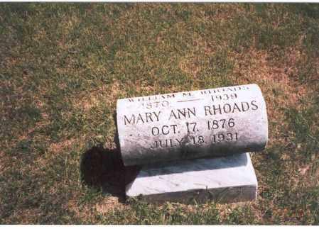 RHOADS, WILLIAM M. - Franklin County, Ohio | WILLIAM M. RHOADS - Ohio Gravestone Photos
