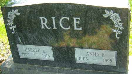 RICE, HAROLD E - Franklin County, Ohio | HAROLD E RICE - Ohio Gravestone Photos