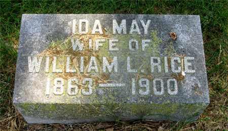 RICE, IDA MAY - Franklin County, Ohio   IDA MAY RICE - Ohio Gravestone Photos