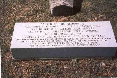 BOWMAN RICHARDSON, CATHERINE G. - Franklin County, Ohio | CATHERINE G. BOWMAN RICHARDSON - Ohio Gravestone Photos